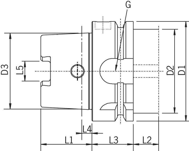 cat 40 tool holder dimensions. hollow taper shank din 69893-5 hsk-e technical drawing cat 40 tool holder dimensions n