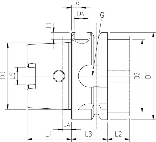 cat 40 tool holder dimensions. hollow taper shank din 69893-1 hsk-a technical drawing cat 40 tool holder dimensions