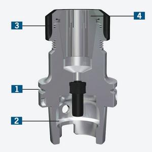 Version HSK-A63 27 mm Diameter Oversized Haimer A63.042.27 Combination Shell End Mill Adapter