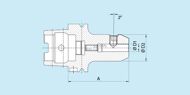 Short Version HSK-A100 Haimer A10.030.16 Whistle-Notch 16 mm Diameter